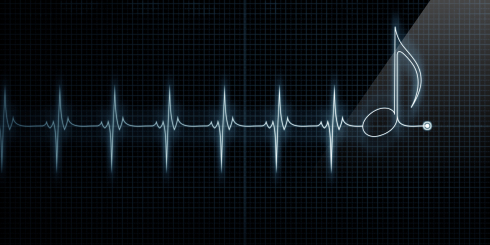 Heart Monitor with Music Note